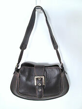 Tod's Authentic Brown Leather Shoulder Bag Small 8.5 in, 12 in, 9.5 in. 2 inches