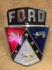 1950, 1951 Ford car NOS hood Ford crest plastic emblem, 0A 16637-B
