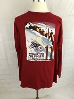 Vtg 90s Tommy Hilfiger Mens 1934 Bobsled Team Red Pullover Sz XL