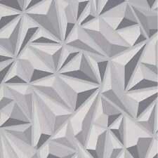 Erismann Geométrico Triángulo Patrón de papel tapiz 3D efecto con relieve 6478-15 gris plata