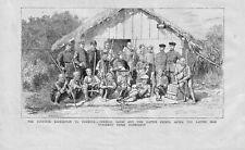 ANTIQUE 1875 PRINT JAPANESE EXPEDITION TO FORMOSA GENERAL SAIGO AND CHIEFS S12
