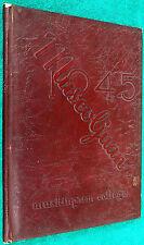 Very Rare 1945 Muscoljuan Muskingum College Yearbook Year Book New Concord OH