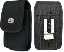 Large Rugged Canvas Case Holster fits w/ Otterbox on for Samsung Phones