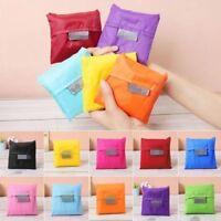 5pcs Mixed Colorful Tote Reusable Travel Bag Foldable Eco-Friendly Shopping Bags