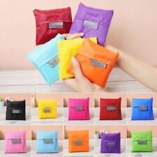 5pcs Mixed Colorful Tote Reusable Travel Bag Foldable Eco-Friendly Shopping Bags