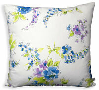 Designers Guild Blue Floral Fabric Cushion Pillow Cover