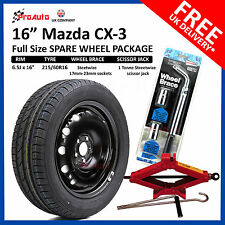 "Mazda CX-3 2015-2018 16"" FULL SIZE STEEL SPARE WHEEL & TYRE  + TOOL KIT"