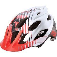 Fox Flux Savant Mountain Bike Cycling Helmet Red / White Size S/MD New