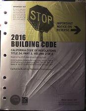 2016 California Building Code, Title 24, Part 2 (Volumes 1 & 2)