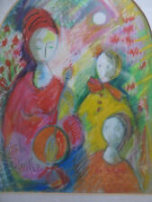 Listed Belle Golinko (1899-1996) Original Vintage Mid Century Expressionist nice