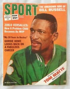 Bill Russell Boston Celtics March 1966 SPORT Magazine