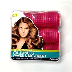 CONAIR Mega Self-Grip Rollers Voluminous Waves & Movement 9ct For Long Hair Pink