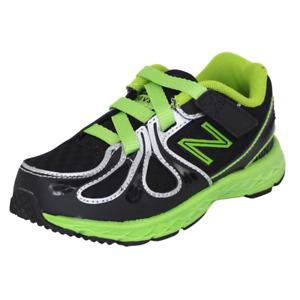 New Balance KV890BGI Toddler Shoes Mesh Adjustable Athletic Black Green New Sz 8