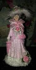 Shabby Pink Chic Pink Christmas Village Pink Victorian Village Victorian Hat