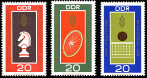 EBS East Germany DDR 1969 Chess Cycling Volleyball Michel 1491-1493 MNH**