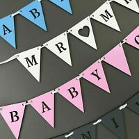 Personalised Wooden Name Bunting triangle ANY COLOUR Wedding, Party, Baby Shower