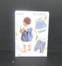 7c7c7aff7a3b Simplicity D0906 Babies' Dress Romper Panties Sizes Xxs-l Uncut Pattern