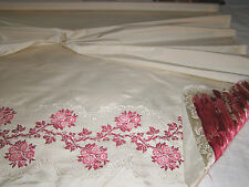VINTAGE 1960's SCALAMANDRE FABRIC DRAPERY PANEL-100%SILK BROCADE-HANDWOVEN,ITALY