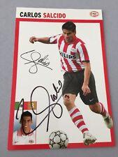 CARLOS SALCIDO PSV EINDHOVEN In-person Olympia 2012/1. Autogrammkarte 10 x 15