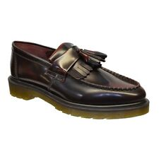 Dr. Martens Mens Casual Shoes Cherry Red Adrian Leather Loafers Lace up Boat UK 10
