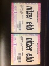 Nitzer Ebb - Town & Country Club Concert Ticket Stubs (x2) 31st March 1992