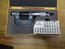 Used Mitutoyo Screw Thread Micrometer No 126 137