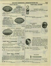 1932 PAPER AD Reach Football Helmets Head Harness Mercury Wing Type Jock Straps