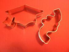 Ann Clark Graduation Cap & Confetti Cookie Cutters  Tin Plated Steel USA