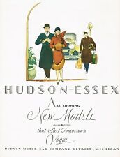 1928 BIG Original Vintage Hudson Essex Motor Car Chauffeur Art Print Ad
