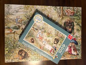 PETER RABBIT Beatrix Potter 1000 piece jigsaw woodland Puzzle