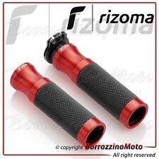 RIZOMA GR205R COPPIA MANOPOLE SPORT LINE IN ALLUMINIO ROSSO RED UNIVERSALI MOTO