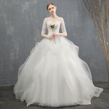 lace long sleeve wedding dress simple romantic elegant tulle bridal gown