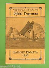 #D167.  1930  BALMAIN  REGATTA PROGRAM