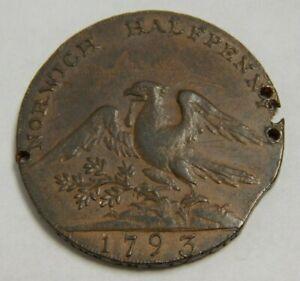 1793 - United Kingdom - Norwich Halfpenny - Condor Token - Dunham & Yallop
