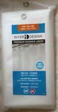 "InterDesign Premium Soft Touch Heavyweight PVC-Free Shower Liner 54""x78"""