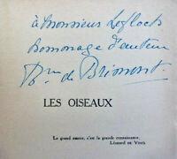 Envoi autographe Renée de Brimont. Les Oiseaux