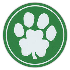 Luck of the Irish - Green Dog Paw Clover Print Car Magnets - St. Patrick's Day