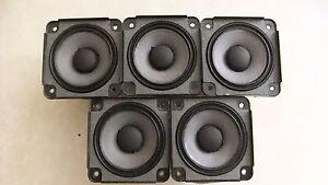5 X Bose Drivers Loud Speakers Full Range 2.55 inch 4.6 Ohm, 30 Watts RMS