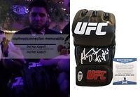 Henry Cejudo Triple-C Signed Autographed UFC Glove Inscrip MMA Proof Beckett BAS