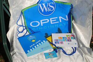 2019 W & S Open LOT Tennis Player card, calendar, bag, magnet
