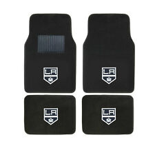 New 4pcs NHL Los Angeles LA Kings Car Truck Front Rear Carpet Floor Mats Set