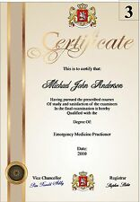 Fun Certificate  A4 ( Novelty ) 3 designs to choose from 130gms Matt