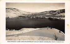 C9/ Vernon British Columbia Canada c40s Real Photo RPPC Postcard Kalamalka Lake