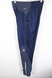 Nike Air Jordan Flight Team Basketball Pants Blue Dri Fit Mens sz Large 696734
