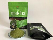 Organic pure matcha green tea powder 3.5oz/100g Unsweetened, 50 servings.