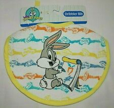 New listing Baby Looney Tunes Bugs Bunny Bib New Dribbler Drooler Soft Fabric Front Ties