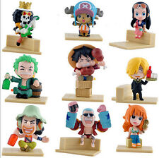 "9 PCS One Piece Luffy Nami Chopper Zoro Robin Usopp Franky 3"" Anime Figures Set"