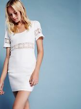 Free People Stone Cold Fox Crawford White Mini Dress SOLD OUT Sz 0 XS Wedding