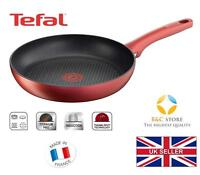 New TEFAL Character Frying Pan 28 cm red ALL HOBS titanium non-stick