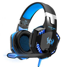 EACH 3.5mm Gaming Headset MIC LED Headphones for PC Laptop PS4 Xbox One Switch